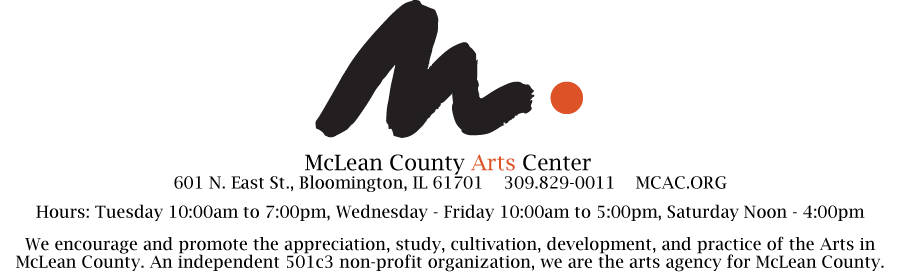 Mclean County Arts Center Upcoming Exhibitions